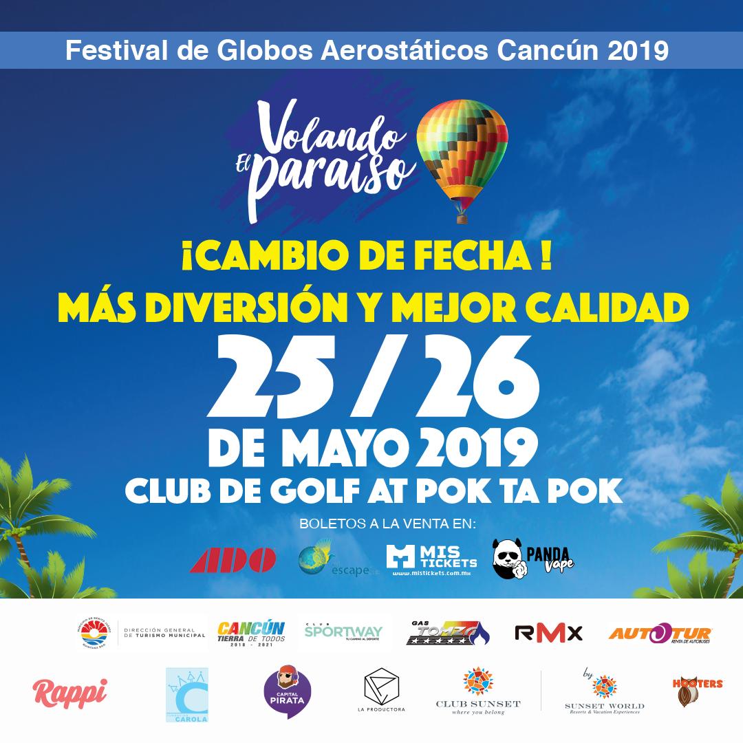 Festival de Globos Aerostáticos Cancún 2019