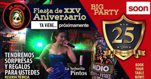 Proximamente! 25 Aniversario Sr. Pintos